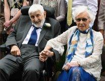 世界上最老的新婚夫妇,两者年龄相加达188岁