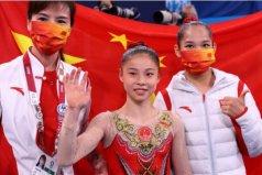 东京奥运会女子平衡木金银牌:管晨辰和唐茜靖(第32金)